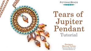 How to Bead Jewelry / Beading Tutorials & Jewel Making Videos / Pendant Projects / Tears of Jupiter Pendant Tutorial