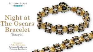 How to Bead Jewelry / Videos Sorted by Beads / Silky and Mini Silky Bead Videos / Night at the Oscars Bracelet Tutorial