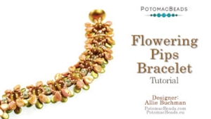 How to Bead Jewelry / Videos Sorted by Beads / Potomac Crystal Videos / Flowering Pips Bracelet Tutorial