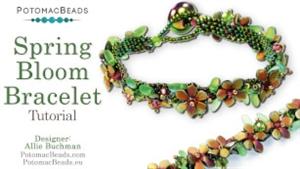How to Bead Jewelry / Beading Tutorials & Jewel Making Videos / Bracelet Projects / Spring Bloom Bracelet Tutorial