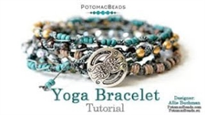 How to Bead Jewelry / Beading Tutorials & Jewel Making Videos / Stringing & Knotting Projects / Yoga Beads Bracelets & Tutorial