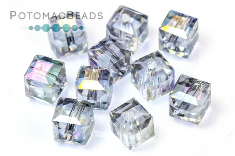 Jewelry Making Supplies & Beads / Beads and Crystals / Potomac Crystal Cube Beads