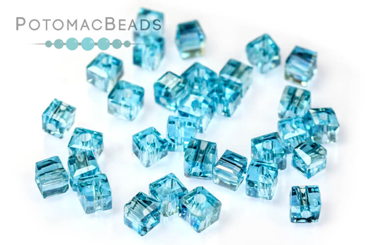 Other Beads & Supplies / Crystals / Potomac Crystal Cube Beads / Potomac Crystal Cube Beads 2mm