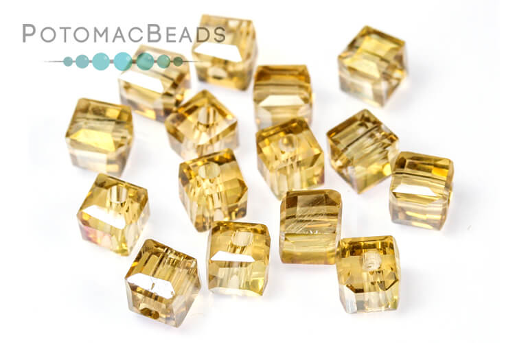 Other Beads & Supplies / Crystals / Potomac Crystal Cube Beads / Potomac Crystal Cube Beads 4mm