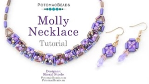 How to Bead / Videos Sorted by Beads / Tubelet Bead Videos / Molly Necklace Tutorial