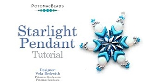 How to Bead / Videos Sorted by Beads / SuperDuo & MiniDuo Videos / Starlight Pendant Tutorial