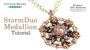 How to Bead Jewelry / Videos Sorted by Beads / All Other Bead Videos / StormDuo Medallion Pendant Tutorial