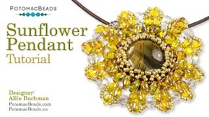 How to Bead / Videos Sorted by Beads / Cabochon Videos / Sunflower Pendant Tutorial