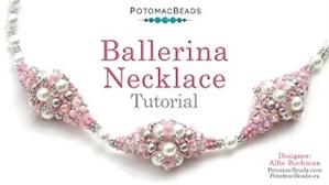 How to Bead Jewelry / Beading Tutorials & Jewel Making Videos / Bead Weaving Tutorials & Necklace Tutorial / Ballerina Necklace Tutorial