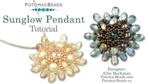 How to Bead Jewelry / Videos Sorted by Beads / RounDuo® & RounDuo® Mini Bead Videos / Sunglow Pendant Tutorial