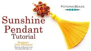 How to Bead Jewelry / Videos Sorted by Beads / All Other Bead Videos / Sunshine Pendant Tutorial