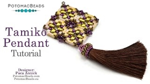 How to Bead Jewelry / Videos Sorted by Beads / Potomac Crystal Videos / Tamiko Pendant Tutorial