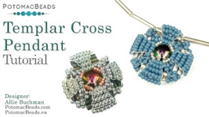How to Bead Jewelry / Videos Sorted by Beads / Potomac Crystal Videos / Templar Cross Pendant Tutorial
