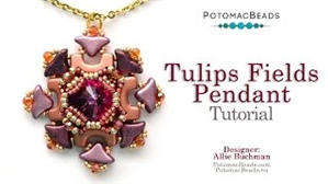 How to Bead Jewelry / Videos Sorted by Beads / Par Puca® Bead Videos / Tulip Fields Pendant Tutorial