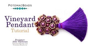 How to Bead Jewelry / Videos Sorted by Beads / Potomax Metal Bead Videos / Vineyard Pendant Tutorial