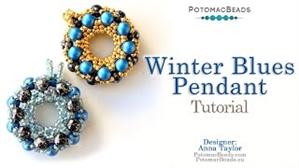 How to Bead Jewelry / Videos Sorted by Beads / RounDuo® & RounDuo® Mini Bead Videos / Winter Blues Pendant Tutorial