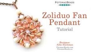 How to Bead Jewelry / Videos Sorted by Beads / Potomac Crystal Videos / ZoliDuo Fan Pendant Tutorial