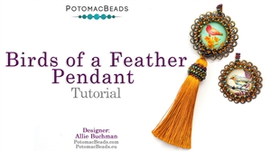 How to Bead / Free Video Tutorials / Pendant Projects / Birds of a Feather Pendant Tutorial