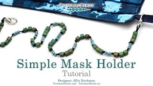How to Bead Jewelry / Videos Sorted by Beads / Seed Bead Only Videos / Simple Mask Holder Tutorial