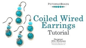 How to Bead / Videos Sorted by Beads / Gemstone Videos / Coiled Wire Earrings Tutorial