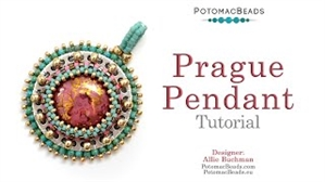 How to Bead / Videos Sorted by Beads / Cabochon Videos / Prague Pendant Tutorial
