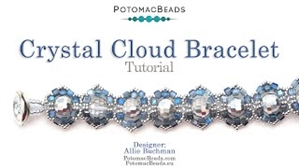 How to Bead / Free Video Tutorials / Bracelet Projects / Crystal Cloud Bracelet Tutorial