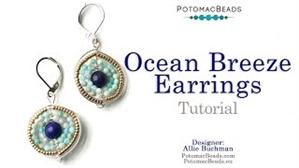 How to Bead / Videos Sorted by Beads / Gemstone Videos / Ocean Breeze Earrings Tutorial