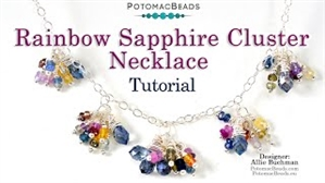 How to Bead / Videos Sorted by Beads / Gemstone Videos / Rainbow Sapphire Cluster Necklace Tutorial