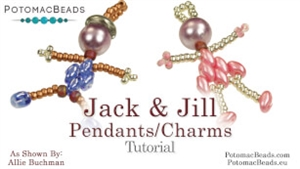 How to Bead Jewelry / Beading Tutorials & Jewel Making Videos / Pendant Projects / Jack & Jill Pendants or Charms Tutorial