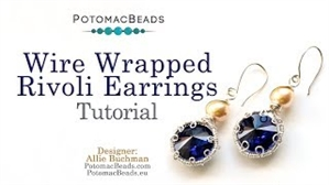 How to Bead Jewelry / Videos Sorted by Beads / Potomac Crystal Videos / Wire Wrapped Rivoli Earrings Tutorial