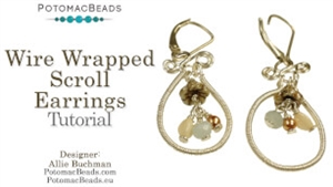 How to Bead Jewelry / Videos Sorted by Beads / Gemstone Videos / Wire Wrapped Scroll Earrings