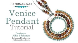 How to Bead / Videos Sorted by Beads / Gemstone Videos / Venice Pendant Tutorial