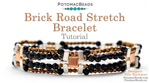 How to Bead / Videos Sorted by Beads / Potomax Metal Bead Videos / Brick Road Stretch Bracelet Tutorial
