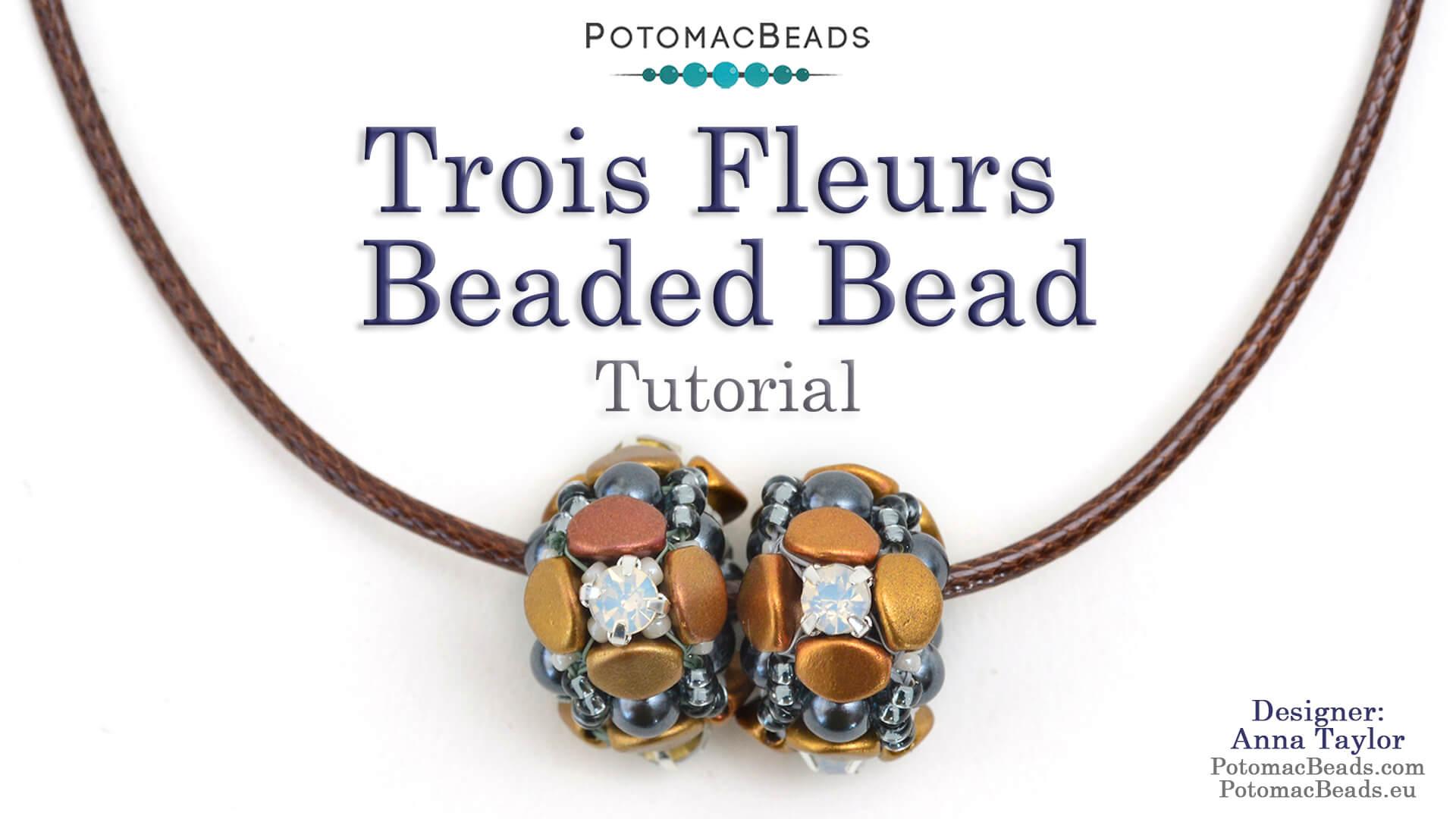 How to Bead Jewelry / Beading Tutorials & Jewel Making Videos / Beaded Beads / Trois Fleurs Beaded Bead Tutorial
