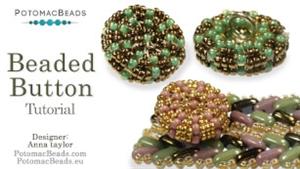 How to Bead Jewelry / Beading Tutorials & Jewel Making Videos / Beaded Beads / Beaded Button Tutorial