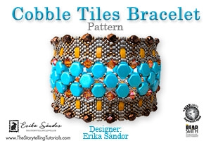 How to Bead / Free Patterns / Cobble Tiles Bracelet Pattern by Erika Sandor