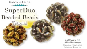 How to Bead / Free Video Tutorials / Beaded Beads / SuperDuo Beaded Beads Tutorial