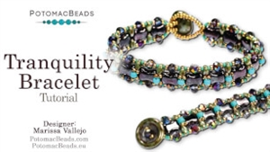 How to Bead Jewelry / Beading Tutorials & Jewel Making Videos / Bracelet Projects / Tranquility Bracelet Tutorial