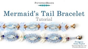 How to Bead Jewelry / Videos Sorted by Beads / Potomac Crystal Videos / Mermaid's Tail Bracelet Tutorial