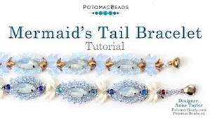 How to Bead / Videos Sorted by Beads / Diamond Shaped Bead Videos / Mermaid's Tail Bracelet Tutorial