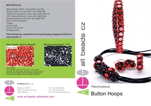 How to Bead Jewelry / Button Hoops Pattern by Petra Koubovå