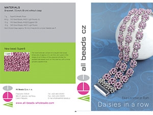 How to Bead / Free Patterns / Daisies in a Row Pattern by Elke Leonhardt- Rath