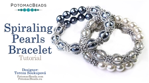 How to Bead Jewelry / Videos Sorted by Beads / Pearl Videos (Czech, Freshwater, Potomac Pearls) / Spiralling Pearls Bracelet Tutorial