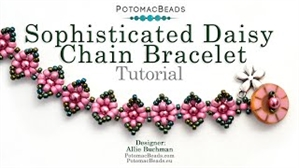 How to Bead Jewelry / Beading Tutorials & Jewel Making Videos / Bracelet Projects / Sophisticated Daisy Chain Bracelet Tutorial