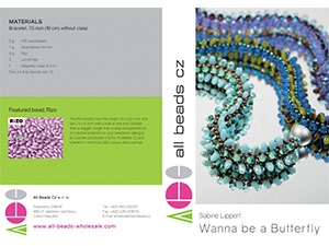 How to Bead Jewelry / Wanna be a Butterfly Pattern by Sabine Lippert