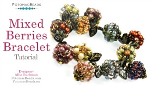 How to Bead Jewelry / Videos Sorted by Beads / SuperDuo & MiniDuo Videos / Mixed Berries Bracelet Tutorial