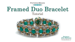How to Bead / Free Video Tutorials / Bracelet Projects / Framed Duo Bracelet Tutorial