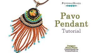 How to Bead / Free Video Tutorials / Pendant Projects / Pavo Pendant Tutorial