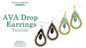 How to Bead / Free Video Tutorials / Earring Projects / Ava Drop Earrings Tutorial
