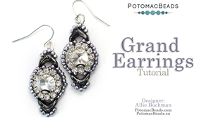 How to Bead Jewelry / Videos Sorted by Beads / Potomac Crystal Videos / Grand Earrings Tutorial